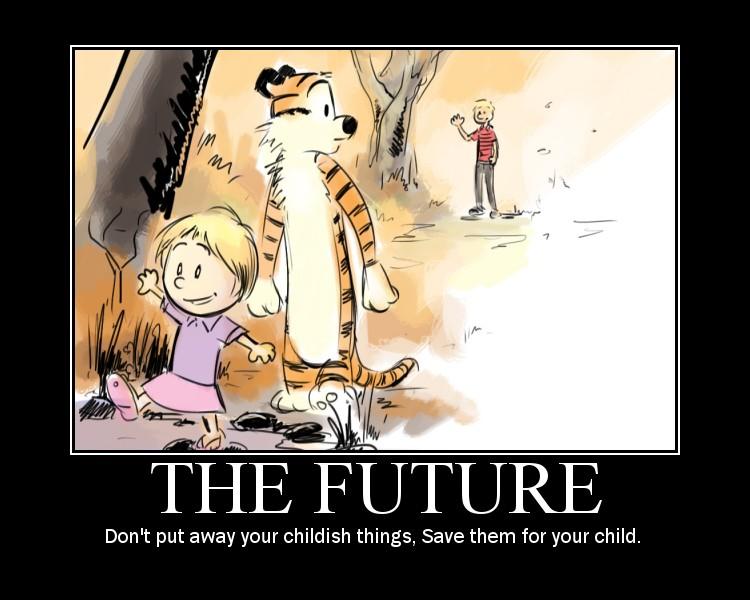 Хотя читая комиксы и не думаешь как-то о том, что Кельвин может вырасти...